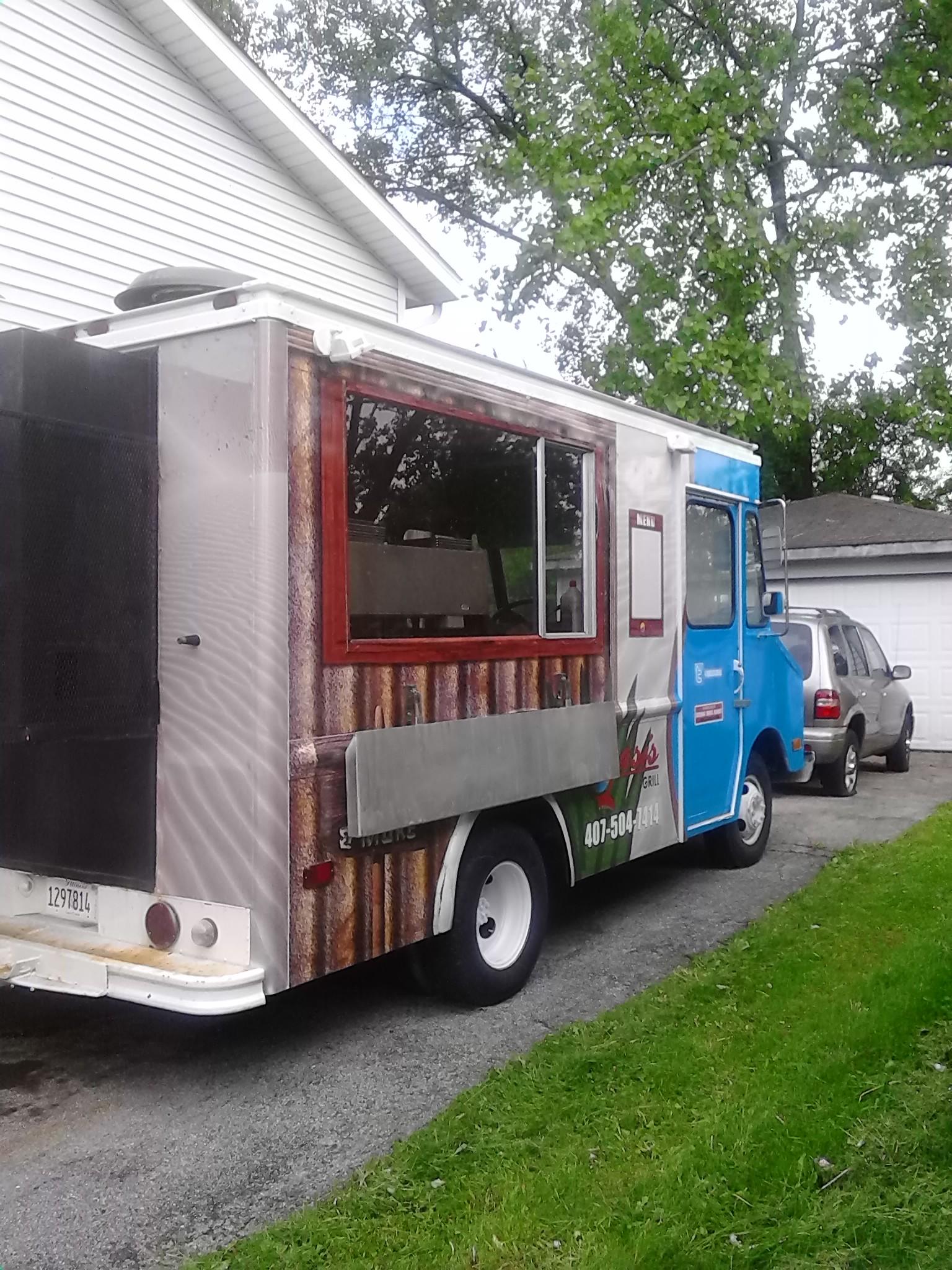 bbq grill food truck